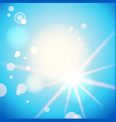 blue summer sky vector image