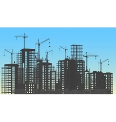 Building city under construction website process vector image