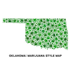 Cannabis collage oklahoma state map vector