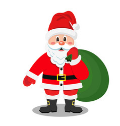 Cartoon santa claus vector