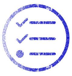 Checklist grunge textured icon vector
