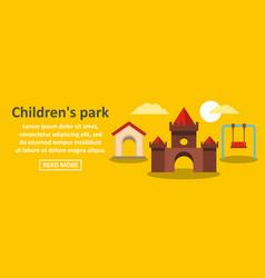 childrens park banner horizontal concept vector image