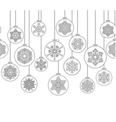christmas background with ball doodle decor vector image