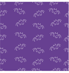 crab pattern seamless color vector image