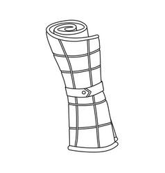 Design plaid and blanket logo vector