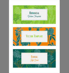 Design template with wild flowers vector