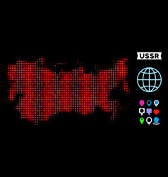 Dot halftone ussr map vector