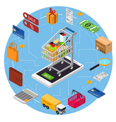 e-commerce concept vector image