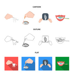 Examination of the tooth instillation of the eye vector