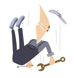 Falling worker vector image