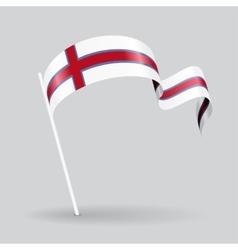 Faroe Islands wavy flag vector image