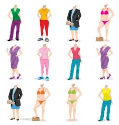 female bodies vector image