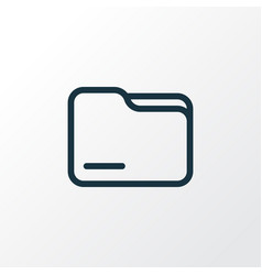 Folder icon line symbol premium quality isolated vector