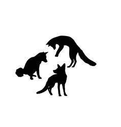 Fox silhouettes vector