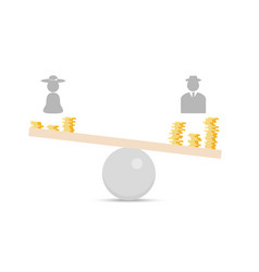 Gender inequality flat concept vector