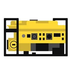 Generator flat vector