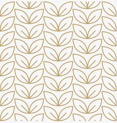 geometric floral leaf ornament line seamless vector image