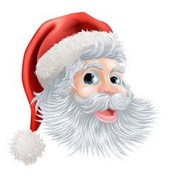 happy christmas santa face vector image