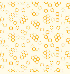 honeycomb seamless pattern print yellow vector image