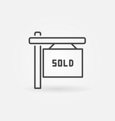 House sold line icon vector