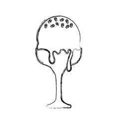 Ice cream scoops in glass vector