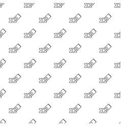 Ice hockey ticket pattern seamless vector