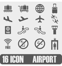 Icon Airport On white background vector image