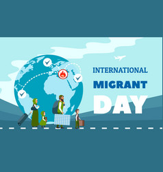 immigration concept background flat style vector image
