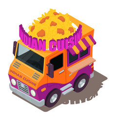 indian food machine icon isometric style vector image