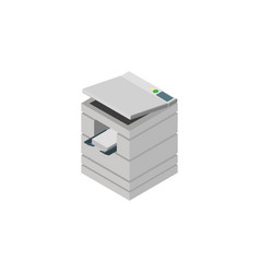 Isolated photocopier isometric scanner vector