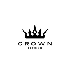 king crown logo icon vector image