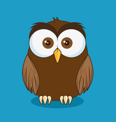 little cute owl character vector image