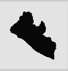 Map liberia isolated black vector