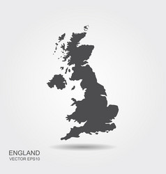 map united kingdom vector image