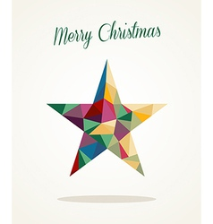 Merry christmas contemporary triangle star vector
