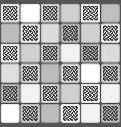 monochrome gray tile seamless pattern vector image