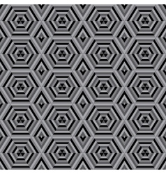 Mosaic different colors geometric shapes of vector image