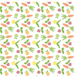 Pattern of fruit and vegetables vector