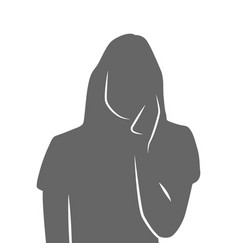 portrait of a woman talking on the phone and vector image