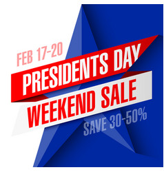 Presidents day weekend sale banner vector