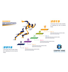 Progressive business timeline vector