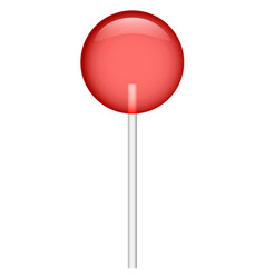 red bonbon icon realistic style vector image
