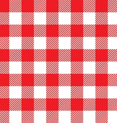 Red tablecloth seamless pattern vector