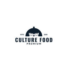Restaurant with indonesian culture home logo vector