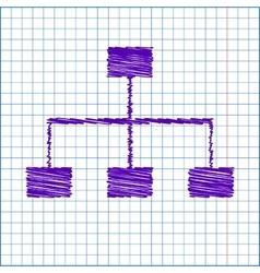 Scribble icon on school paper vector