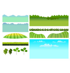 set of game elements elements for mobile vector image