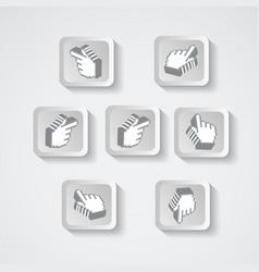 set pointers in form pixels vector image