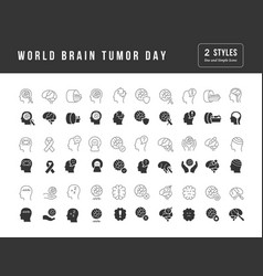 simple icons world brain tumor day vector image