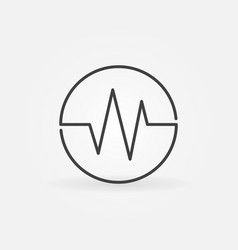 Sound wave concept round linear icon vector