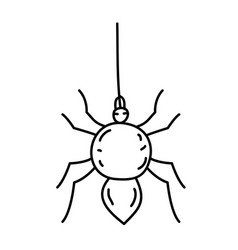 spider icon doodle hand drawn or black outline vector image